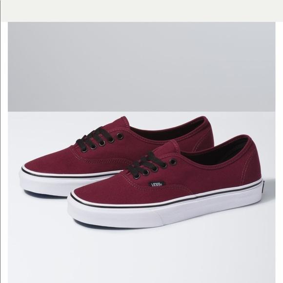 Authentic Maroon Vans Shoes